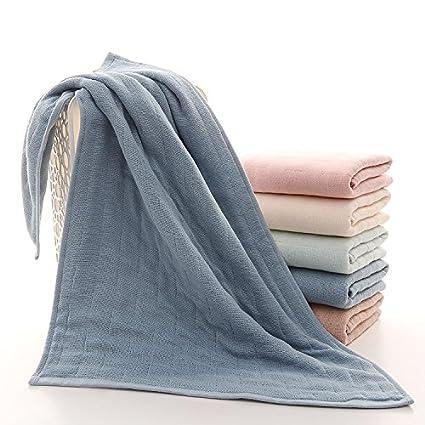 mmynl hilo algodón puro Toalla toallas de mano de lino y algodón adulto parejas azul 60