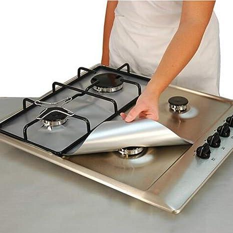 High Quality Protectores De Gama De Gas Para Herramientas De Cocina, 4 Piezas, Tapas  Reutilizables Antiadherentes