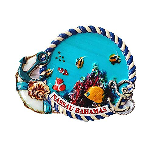 - Nassau Bahamas 3D Fridge Magnet Souvenir Gift,Home & Kitchen Decoration Magnetic Sticker,Nassau Bahamas Refrigerator Magnet Collection