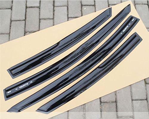 Sun/Rain Guard Smoke Vent Shade Deflector Window Vlisors Slim Style For 2008-2012 Hyundai Tucson 4PCS