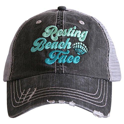 Resting Beach Face Women's Trucker Hats Caps