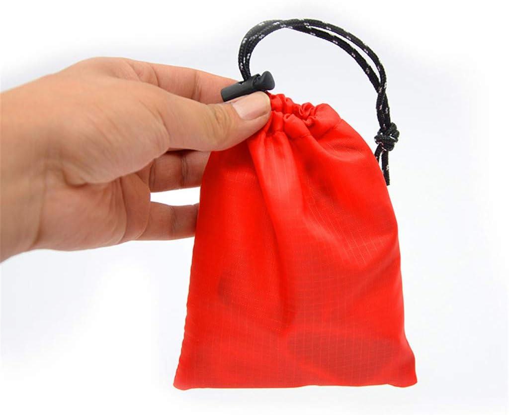 sac de rangement portable avec cordon de serrage Utilisateur 4 pi/èces Gadget de camping piquets de tente /étui de rangement