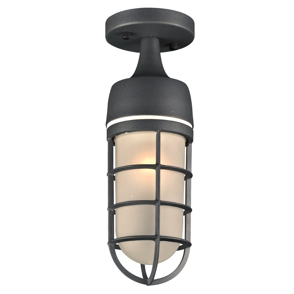 PLC Lighting 8052BZ 1-Light Cage Collection Outdoor Fixture, Bronze Finish