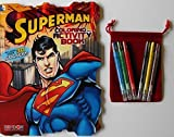 Superman Bundle-BC- 80 Page Shaped Coloring & Activity Book With Stickers Plus...