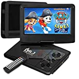 DR. J 11.5 Inch Region Free Portable DVD Player with 9.5 Inch Swivel