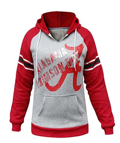 Women's Alabama Crimson Tide Warm Athletic Hoodies Sweatshirts - Grey Alabama Hoodie