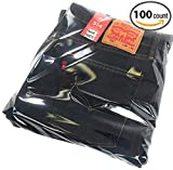 poly bag combo self seal - Parts Flix Premium Quality Clear Poly Bags with Suffocation Warning with 2 Self Seal Flap (100 Clear Bags - 13x17)