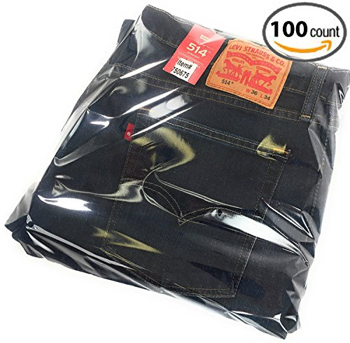 Parts Flix Premium Quality Clear Poly Bags with Suffocation Warning with 2