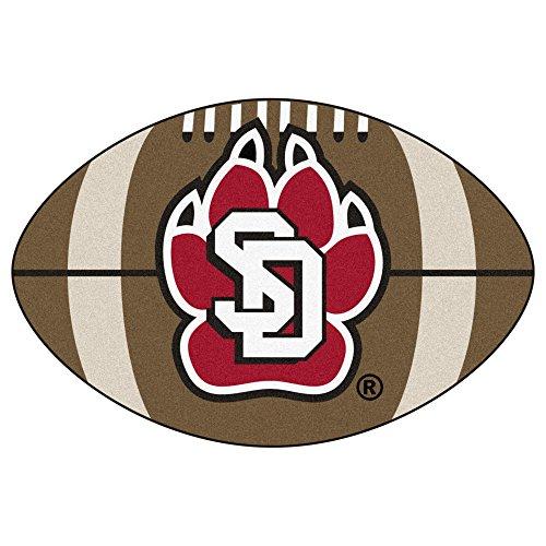 NCAA University of South Dakota Coyotes Football Shaped Mat Area Rug