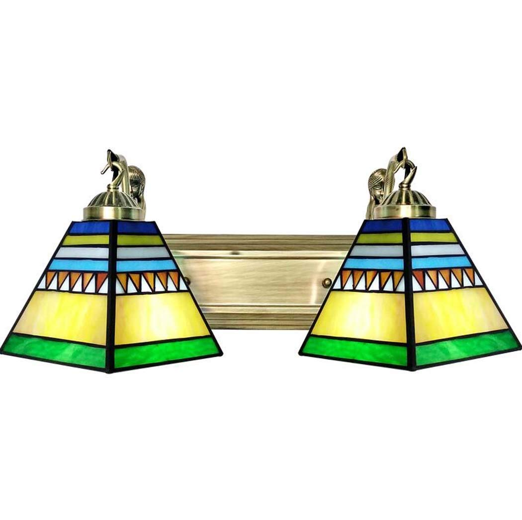 ティファニースタイルウォールランプレトロステンドグラス壁取り付け用燭台ライトリビングルームの寝室の装飾人魚地中海ledミラーライト、E27 110-240ボルト (設計 : C) B07R6D4Z2K  C