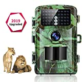 Trail Camera - Trail Camera 1080P 12MP Game Camera for Hunting Camera with Night Vision IP56 Waterproof 120°Wide Angle Lens Deer Camera Scouting Camera for Monitor/Wildlife Camera