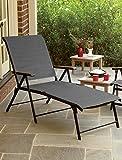 Extra-Wide Backyard Folding Lounger (Grey)