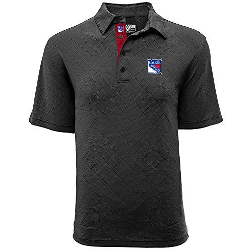 (Levelwear LEY9R NHL New York Rangers Men's Barton Icon Heather Polo T-Shirt, X-Large, Charcoal)