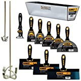 DEWALT DELUXE Blue/Carbon Steel Hand Tool Set | 8/10/12' Taping Knives, 3/4/5/6/8' Putty Knives, 2 Mud Mixers, 9-in-1 Painter's Multitool + FREE BONUS 14' Mud Pan | DXTT-3-610