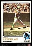 1973 Topps # 406 Paul Lindblad Oakland Athletics (Baseball Card) Dean's Cards 4 - VG/EX Athletics