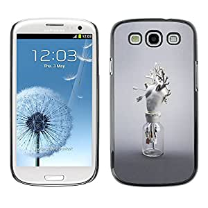 A-type Colorful Printed Hard Protective Back Case Cover Shell Skin for SAMSUNG Galaxy S3 III / i9300 / i747 ( Heart Anatomy White Art Modern Love )