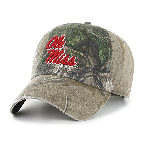 NCAA Mississippi Old Miss Rebels Realtree OTS Challenger Adjustable Hat, Realtree Camo, One Size