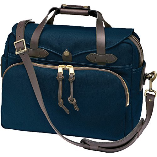 Price comparison product image Filson Twill Padded Laptop Briefcase Navy,  One Size