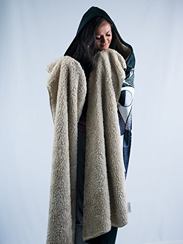 Moon Beams Premium Sherpa Hooded Blanket - Electro Threads by Electro Threads (Image #2)