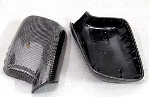 Carbon Fiber Mirror Covers Replacement For BMW 3 Series Cabriolet E46 2000-2007 318ci 320ci 323ci 325ci (E46 Carbon Fiber)