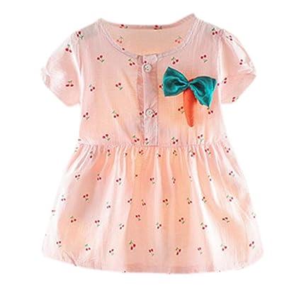 Amazon.com: Vestido de bebé para niña de 0 a 2 años ...