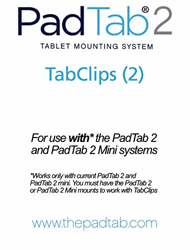 PadTab 2: (2 Extra TabClips) For use with the PadTab 2 Universal Tablet Wall Mount System