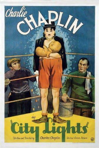 City Lights Charlie Chaplin movie poster print 1931
