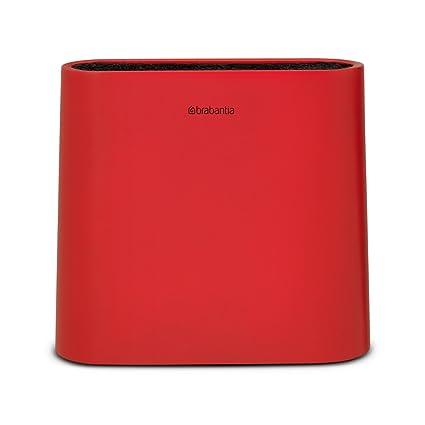 Brabantia Tasty Colours Soporte para cuchillos, Plástico, Rojo, 4.5x23x21 cm