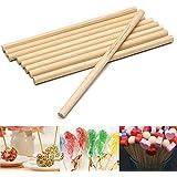 100ピース/セットラウンド木製のロリポップスティック10センチケーキダボ用diy食品工芸キャンディーの装飾ロッドパーティーイベント用品