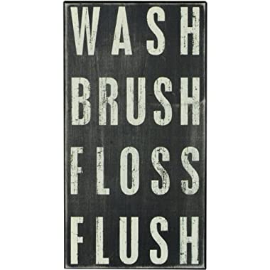 Primitives By Kathy Box Sign, Wash Brush Floss