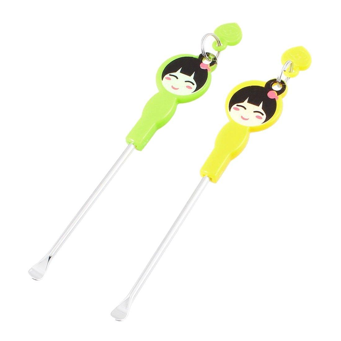TOOGOO Cartoon Girl Pattern Ear Spoon Earwax Ear Wax Remover Ears Care Tool 2 Pcs
