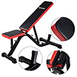 COSTWAY Adjustable Sit up Incline Abs Bench Red