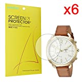 For Fossil Q Accomplice Screen Protector, Lamshaw Premium High Definition Ultra Clear for Fossil Hybrid Smartwatch - Q Accomplice (6 pack)