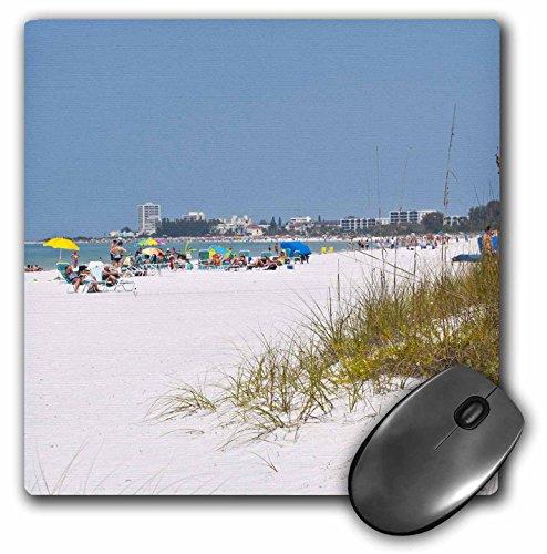 "Price comparison product image 3D Rose ""Usa Florida Sarasota Crescent Beach Siesta KeyUs10 Bfr0136Bernard Friel"" Matte Finish Mouse Pad - 8 x 8"" - mp_143615_1"