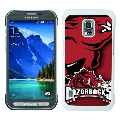Galaxy S5 Active Case,Southeastern Conference SEC Football Arkansas Razorbacks 2 White Samsung Galaxy S5 Active (Black And White Dress Up Ideas)