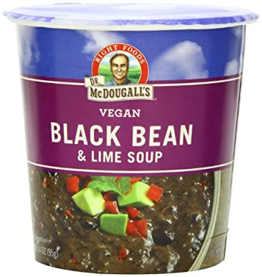 Dr. McDougall's Right Foods Vegan Black Bean & Lime Soup, 3.4-Ounce Cups (Pack of 6) from Dr. McDougall's Right Foods