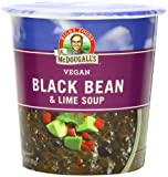 Dr. McDougalls Right Foods Vegan Black Bean & Lime Soup, 3.4-Ounce Cups (Pack of 6)