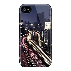 BlJPO9403KrMKB Case Cover Protector For Iphone 4/4s City Lights Case
