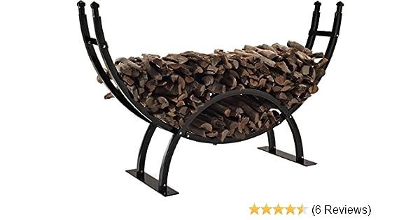 Amazon.com : Crosley Furniture Gunnison Firewood Storage Rack   Black :  Outdoor Firewood Racks : Garden U0026 Outdoor