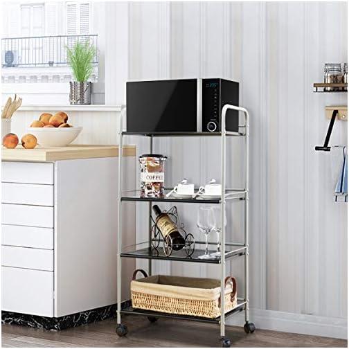 Giantex Standing Baker's Rack Utility Cart Rolling Cart Storage Steel Shelf Rack Metal Mesh Tier for Commercial Kitchen…