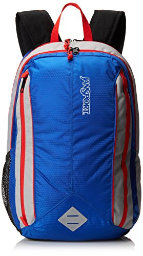 JanSport Unisex Spark Backpack Blue Streak/High Risk Red One Size