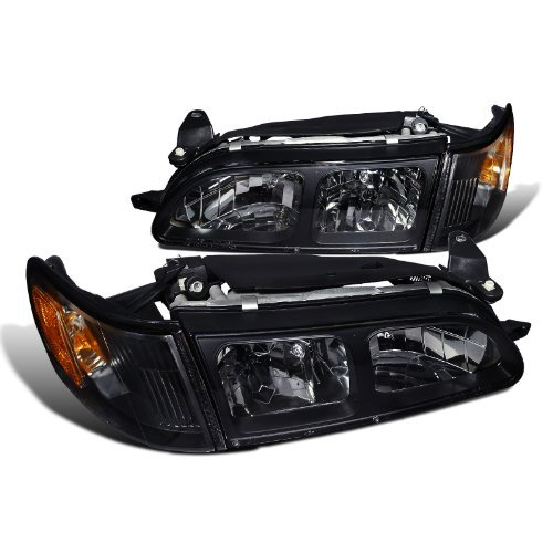 Spec-D Tuning 2LCLH-COR93JM-DP Toyota Corolla Dx Trac 4 5 Dr, Black Housing Clear Lens Headlights, Corner - Corolla Corner Toyota Headlights