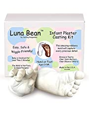Luna Bean Infant Plaster Statue Casting Keepsake Kit - Cast Baby Hand & Foot (Clear Glaze) by Casting Keepsakes