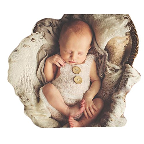 Luxury Fashion Unisex Newborn Baby Girl Boy Outfits Photography Props Rompers (White) (Months Romper Outfit)