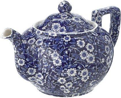 Burleigh Blue Calico Teapot 35oz