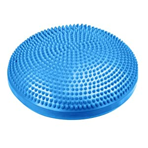 HemingWeigh Inflated Stability Wobble Cushion | Exercise Fitness Core Balance Disc | Including Free Pump