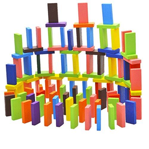 120pcs 12colors Fixés Authentiques Enfants En Bois Standard Domino Jeu Jouets Amusants