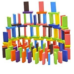 Children Best Dominoes Wooden Blocks Game