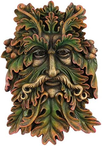 """goddess of spring   greenman /""""green man/"""" for  outdoor or in wall plaque"""