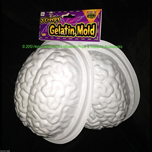 Forum Novelties 69000 Horr Life Size Brain Dessert Jello Gelatin Mold Zombie Food Halloween Horror Prop-2pc, -